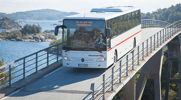 Sørlandsruta vant anbudet for busstjenester i Flekkefjord, Kvinesdal og Sirdal kommune.