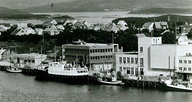 MS Torghatten ved kai i Brønnøysund.